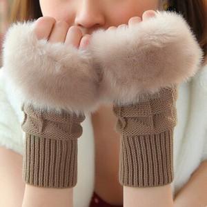 手袋 ハンドウォーマー アームウォーマー レディース スマホ手袋 ファー ニット 防寒 ふわふわ おしゃれ 手首ウォーマー 指なし おしゃれ 秋冬|tman