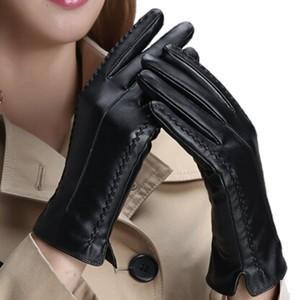 スマホ手袋 フェイクレザー レザー手袋 レディース 裏地付き ファー付き 防水 防寒 暖かい 秋冬|tman