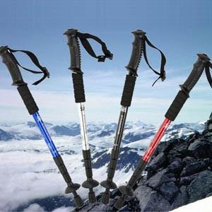 ステッキ ストック トレッキングポール 登山用杖 T型 ハイキング装備 屋外用品 超軽いアルミ合金製|tman