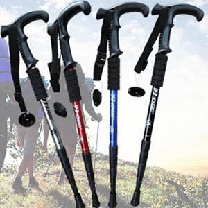 ステッキ ストック トレッキングポール 杖 登山用杖 超軽いタイプ 四段杖 屋外ハイキング用 スキー用 伸縮性ステッキ|tman