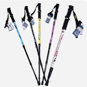 ステッキ ストック トレッキングポール 杖 登山用杖 屋外運動用品 ハイキング用 収納可能 伸縮性あり 三段 |tman