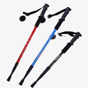 ステッキ ストック トレッキングポール 杖 登山用杖 超軽いアルミ合金製 四段 伸縮機能あり T型 ストレート ハイキング用品|tman