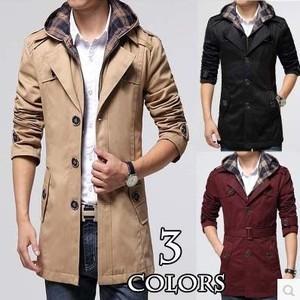 トレンチコート メンズ コート ロング 大きいサイズ トレンチ コート ビジネス ロングコート 秋新作|tman