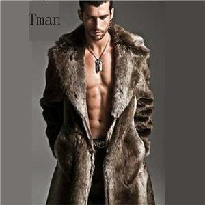新作&両面着用可 ファーコート メンズ  毛皮コート ロングコート ミンク ファー付き おしゃれ 上着 暖かい 秋冬 防寒 送料無料|tman