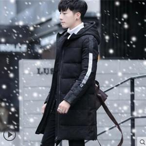 中綿コート メンズ ダウン風ジャケット コート ロング丈 フード付き 迷彩風 厚手 細身 無地 アウター 防寒 かっこいい ファッション 冬 冬物 新作 送料無料|tman