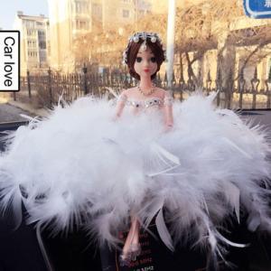 人形 ひな人形 車載用 置物 羽毛製品のウェディング ドレス プレゼント 可愛い 小物 飾り物 おもちゃ|tman