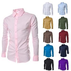 シャツ 長袖 メンズ 無地 メンズシャツ ビジネス用 ワイシャツ メンズ シンプル 長袖シャツ 紳士服 通勤 就職 秋新作 送料無料|tman