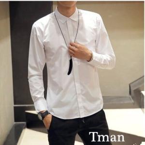 ワイシャツ メンズ 長袖シャツ ドレスシャツ ビジネスシャツ 無地 通勤 シャツ メンズ ポロシャツ 白シャツ yシャツ カジュアル メンズファッション  春新作 tman