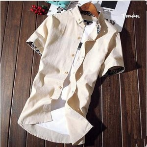 半袖ワイシャツ メンズ 半そでシャツ 半そで 無地 プリント ビジネス用 カジュアル 紳士 メンズファッション 夏新作 トップス|tman