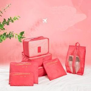 7点セット トラベルポーチ 収納袋セット 旅行収納セット 衣類分類袋 旅行ポーチ バッグ 防水 収納 大容量 旅行用 出張 整理用 軽量 旅行用品 送料無料 tman