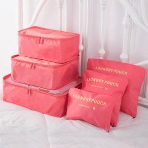 6点セット トラベルポーチ 収納袋セット 旅行収納セット 衣類分類袋 旅行ポーチ バッグ 防水 収納 大容量 旅行用 出張 整理用 軽量 旅行用品 送料無料 tman