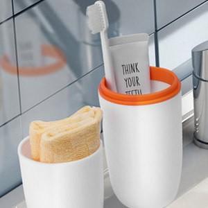 歯ブラシ立て 歯ブラシケース コップ バス用品 サニタリー ボックス 歯磨きコップ 携帯用 洗面所用品 旅行 りょこう 引っ越し 出張 衛生 送料無料 tman
