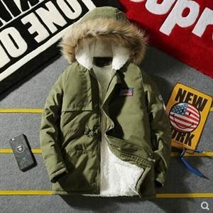 中綿コート モッズコート カップル メンズ レディース ボリュームファー フード付き 細身 裏起毛 ボア 厚手 防寒 暖かい 冬物 2018 新作 tman 送料無料|tman