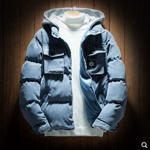 中綿コート カップル メンズ レディース 中綿ジャケット 中綿アウター シングル フード付き ショート丈 厚手 防寒 暖かい 冬物 2018 新作 tman 送料無料|tman