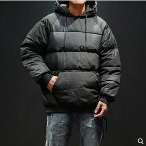 中綿コート メンズ 中綿ジャケット 中綿アウター フード付き ショート丈 プルオーバー 厚手 防寒 暖かい 冬服 冬物 2018 新作 tman 送料無料|tman