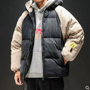 中綿コート メンズ 中綿ジャケット 中綿アウター フード付き ショート丈 厚手 防寒 暖かい 通学 冬服 冬物 2018 新作 tman 送料無料|tman
