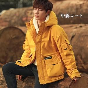 中綿コート メンズ ショート丈 フード付き 中綿ジャケット アウター 防寒 暖かい あったか 通学 おしゃれ 冬服 新作 tman 送料無料|tman