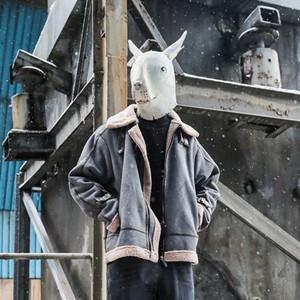 ムートンコート セーム革 メンズ ショート丈 中綿コート アウター ゆったり 防寒 暖かい あったか おしゃれ 冬服 新作 tman 送料無料|tman