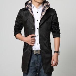 トレンチコート メンズ スプリングコート 長袖 フード付き コート ビジネスコート ジャケット アウター ゆったり 仕事 通勤 紳士 春物 新作 送料無料 tman