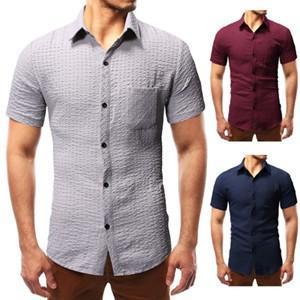 半袖シャツ メンズ 半袖 シャツ メンズシャツ 折り襟 チェック柄 カジュアルシャツ シングル おしゃれ カジュアル 夏 夏物 新作 送料無料|tman
