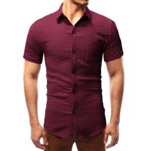 半袖シャツ メンズ 半袖 シャツ メンズシャツ 折り襟 チェック柄 カジュアルシャツ シングル おしゃれ カジュアル 夏 夏物 新作 送料無料|tman|05