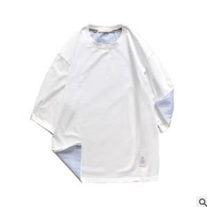 Tシャツ tシャツ メンズ レディース カップル 五分袖 丸首 切り替え 夏tシャツ ゆったり カジュアル おしゃれ トップス 夏物 新作 送料無料|tman|04