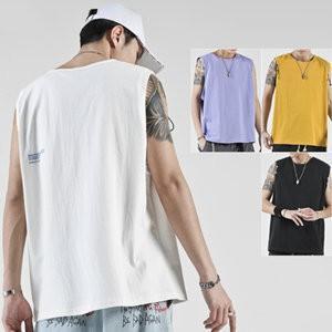 タンクトップ メンズ ノースリーブ ベスト Tシャツ tシャツ ゆったり 大きいサイズ 体型カバー 運動 おしゃれ カジュアル 夏物 新作 送料無料|tman