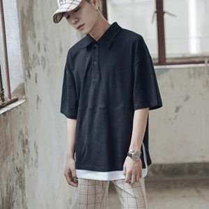 Tシャツ tシャツ メンズ 半袖tシャツ 半袖 夏tシャツ ゆったり 大きいサイズ 重ね着風 おしゃれ 着痩せ 通学 カジュアル 夏物 新作 送料無料|tman
