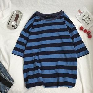 Tシャツ tシャツ メンズ 半袖tシャツ 半袖 丸首 ボーダー柄 夏tシャツ ゆったり 大きいサイズ おしゃれ 着痩せ 通学 カジュアル 夏物 新作 送料無料|tman