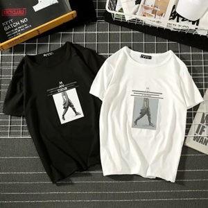 Tシャツ tシャツ メンズ 半袖tシャツ 半袖 丸首 プリント 夏tシャツ ゆったり 大きいサイズ おしゃれ 着痩せ 通学 カジュアル 夏物 新作 送料無料|tman