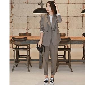 スーツ 2点セット レディース テーラードジャケット+ロングパンツ セットアップ 事務服 通勤 面接 ゆったり フォーマル オフィス 仕事 就活 春物 送料無料|tman