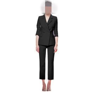 スーツ 2点セット レディース テーラードジャケット+ロングパンツ セットアップ 事務服 通勤 面接 無地 細身 フォーマル オフィス 仕事 就活 春物 送料無料|tman