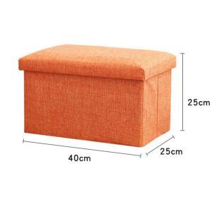 スツール 椅子 いす イス 収納 小物収納 座れる 足置き台 クッション 正方形 ベンチ 収納ボックス 便利|tman|02