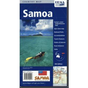 国別見開き一枚地図 Hema Mapsサモア Samoa
