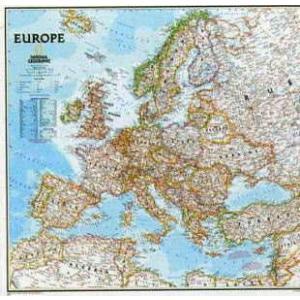 【ヨーロッパ地図 Europe Classic】