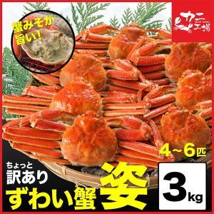 訳あり ズワイガニ 姿 4匹〜6匹 3kg ボイル 蟹 ミソ...