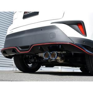 トヨタC-HR (ZYX10)2WDハイブリッドG/S用ロッソモデロCOLBASSO TI-Cデュアル出しチタンテールマフラー (ブルーテール)|tmgarage2019