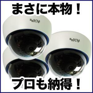 ダミーカメラ/屋内ドーム 3台セット 防犯カメラ|tmts