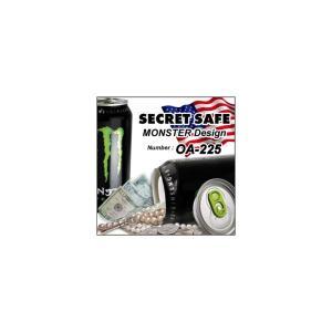 隠し金庫 飲料缶型 収納 セーフティボックス 『シークレットセーフ』(OA-225) MONSTER ENERGY 貴重品の保管 タンス貯金 へそくり 防犯|tmts