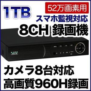 52万画素 防犯カメラ 最大8台まで接続可能 録画機 1000GBハードディスク搭載 DVR SKY-528C-1T tmts