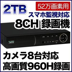 52万画素 防犯カメラ 最大8台まで接続可能 録画機 2000GBハードディスク搭載 DVR SKY-528C-2T tmts