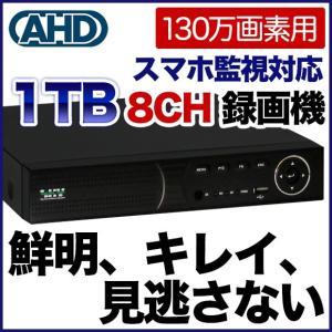 レコーダー SX-3808E 8CH防犯用録画装置!1000GBハードディスク内蔵|tmts
