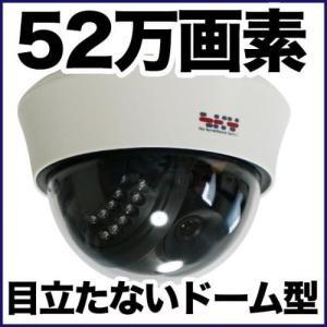 ドーム型 防犯カメラ 監視カメラ/52万画素 暗視・屋内 アナログ SX-52d|tmts