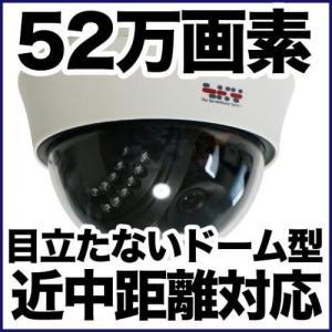 ドーム型 防犯カメラ 監視カメラ/52万画素 暗視・屋内・近中距離 アナログ SX-52d-VR|tmts