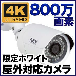 防犯カメラ 監視カメラ 800万画素 暗視・防水・屋外 ホワイト色 SONYセンサー バレット ホワイト色 SX-800w|tmts