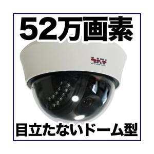 ドーム型 防犯カメラ 監視カメラ/52万画素 暗視・屋内 SX-PDM41R|tmts