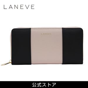 プレゼント LANEVE ランイブ レディース 長財布 L56801 BK ブラック 黒/BE ベージュ (168999) 女性 おしゃれ 通勤 通学 tn-square