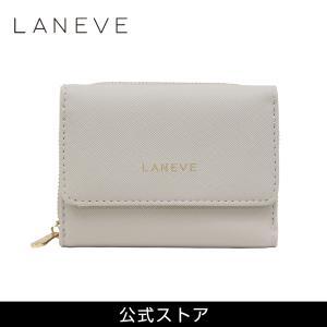 プレゼント LANEVE ランイブ レディース 3つ折り財布 L56802 GJ (グレージュ) (169013) 女性 おしゃれ 通勤 通学 tn-square