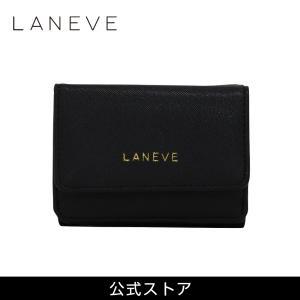 プレゼント 女性 おしゃれ 通勤 通学 結婚式 パーティ } LANEVE ランイブ レディース ミニ財布 L56803 BK ブラック 黒 (169016) tn-square