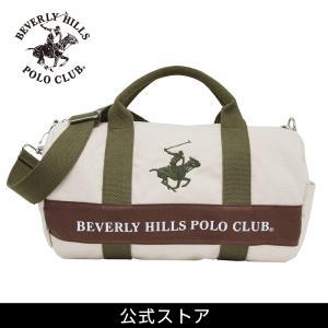 ミニ ボストンバッグ メンズ レディース ビバリーヒルズ ポロ クラブ BEVERLY HILLS POLO CLUB BHC001 アイボリー/カーキ/カーキ (181270) hawks202110|tn-square